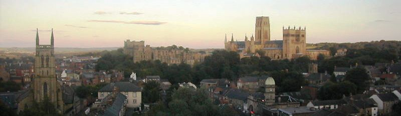 6 nights cycling w2w across Northern England, Sunset over Durham City