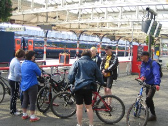 5 nights cycling in the north of England from Newcastle to Berwick at the rail station