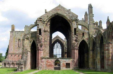 4 nights cycling the 4 Abbeys route in the borders of Scotland. Melrose Abbey