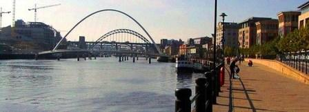 4 nights Cycling Hadrians Wall from Newcastle The Quayside at Newcastle upon Tyne